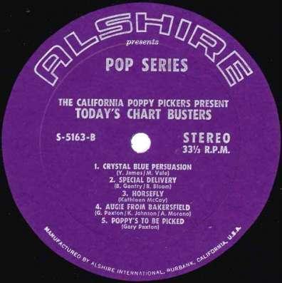 Пластинка California Poppy Pickers - Today s Chart Busters в Санкт-Петербурге Фото 1