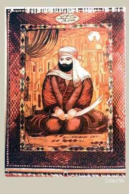 Чисто шерстяной ковер ручной работы, на котором изображена