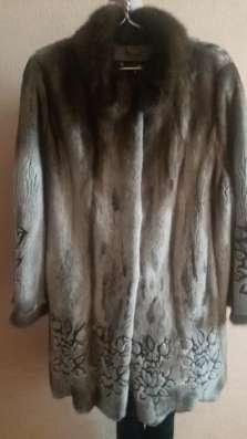 Шуба норковая с лазерным рисунком в г. Зима Фото 4