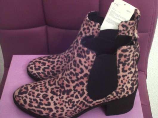 Ботинки с леопардовым рисунком