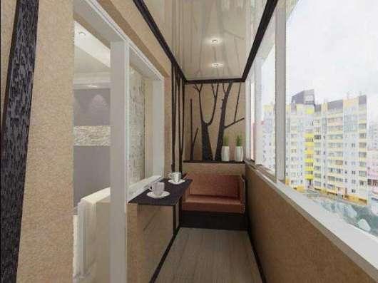 Отделка балконов и лоджий в Москве Фото 1