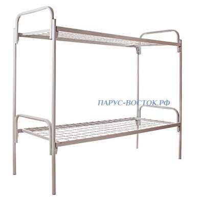 Кровать металлическая двухъярусная, сварная сетка