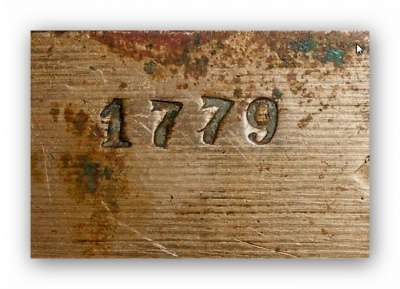 Шкатулка.Бронза 18 век. Клеймо1779г. в Иванове Фото 2