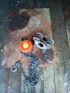 Ручная цепная таль с тележкой