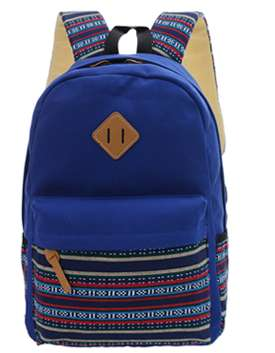 Рюкзак городской с этническим орнаментом Черный Синий в г. Запорожье Фото 5