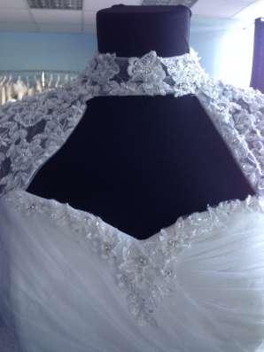 Пышное свадебное платье со шлейфом и маечкой в Москве Фото 1