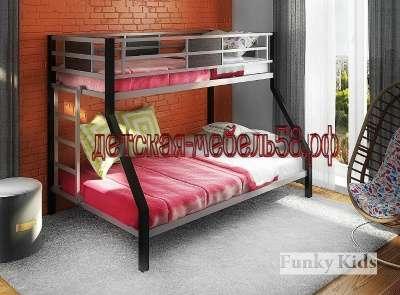 Двухъярусная металлическая кровать 2