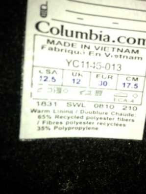 Сапоги зимние детские Columbia POWDERBUG FORTY