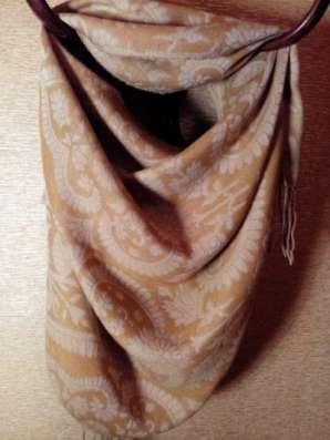 шарф-палантин двухсторонний, коричневый
