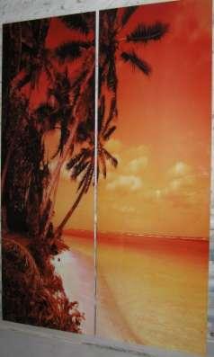 Стеклянные фасады шкафов-купе и шкафы с экологически чистой фотопечатью-ламинацией.