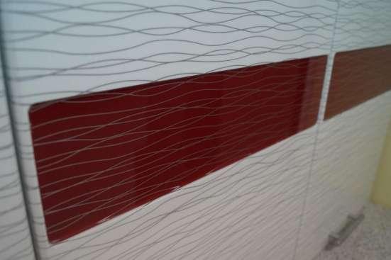 Кухня Гамма Красно-белый дождь 1,8 м в Екатеринбурге Фото 3