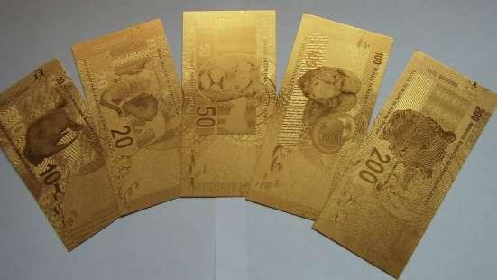 Коллекция золотых банкнот 24 к 20 штук + сертификат в Артемовский Фото 3