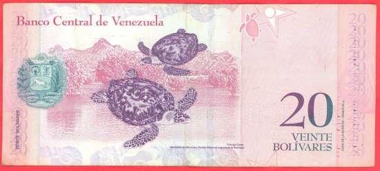 Венесуэла 20 боливаров 2009 г