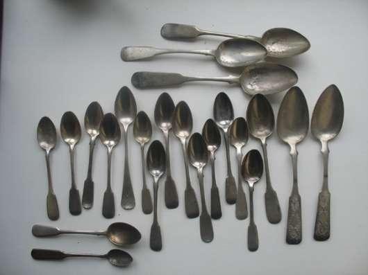 Ложки серебро 84 Сазиков, Хлебников,-715.3г