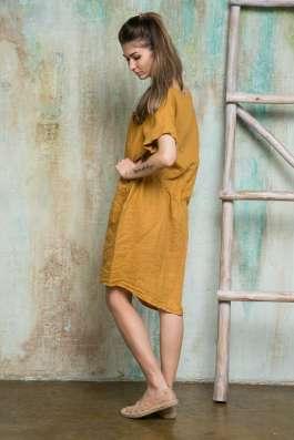 Платье на кулиске изо льна