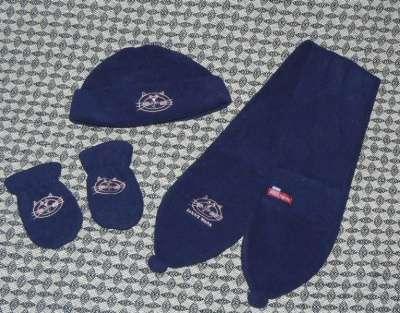 Комплект SELA (шапка, варежки+ шарф) фл