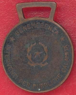 Италия Медаль За заслуги при ликвидации бедствий в Орле Фото 1