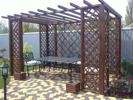 Беседки, столы лавочки для сада в Краснодаре Фото 1