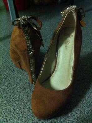 Туфли коричневые на горочке в Омске Фото 1
