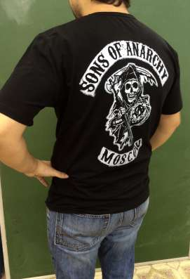 Футболка мужская sons of anarchy(сыны анархии)