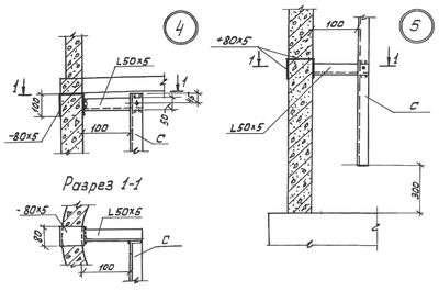 Стальные канализационные лестницы-стремянки С1-01