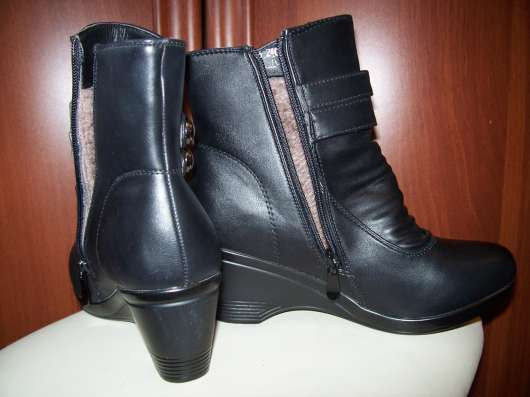 Женские черные ботинки утепленные, очень удобные