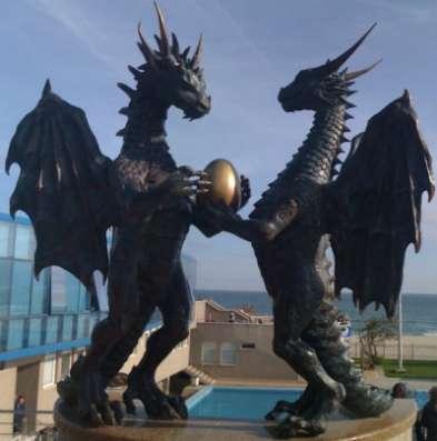 """Скульптура """"Влюбленные драконы&qu"""