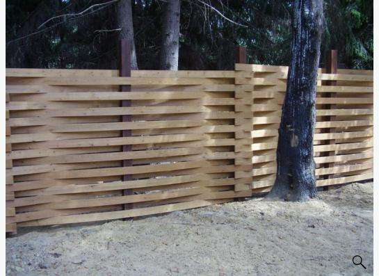 Деревянный забор в Новосибирске Фото 1