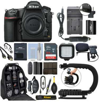 Nikon D850 45.7 MP FX Digital SLR Camera Body + 64GB Pro Vid