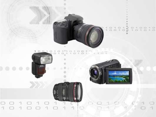 Ремонт фотоаппаратов, объективов, фотовспышек, видеокамер.