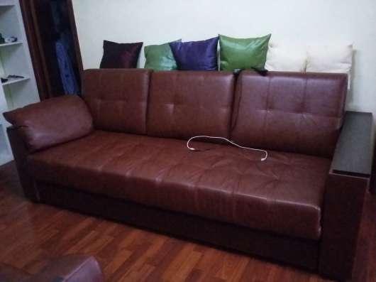 Натур. кожа. Цвет темно-коричневый. кресло+диван в Перми Фото 2