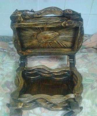 Ларец из дерева с искусственным старением ручной работы