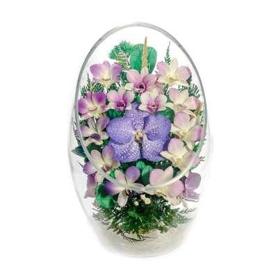 Композиции из живых цветов в стекле на 5 лет ! в Москве Фото 5
