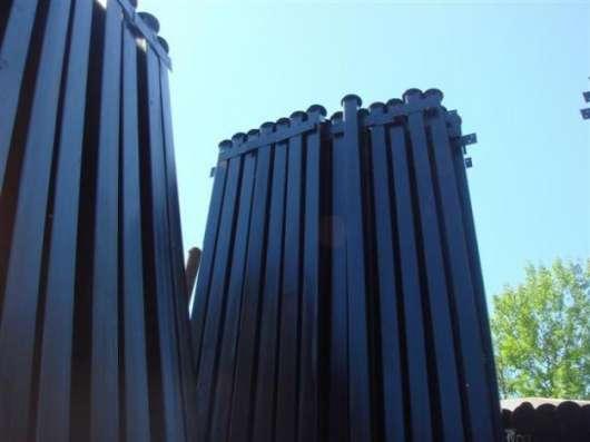 Столбы с заглушкой сверху от попадания влаги, грунтованные о в Брянске Фото 1