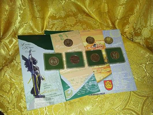Монеты Литвы 10 лит 1993, 94, 95, 98, 99, 2002г PROOF 7штук