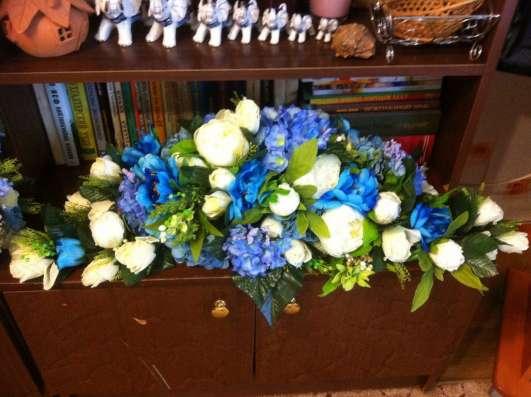 Свадебное оформление в сине-голубом цвете в Казани Фото 2