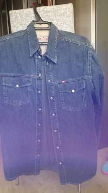Мужские рубашки, джинсовая ткань, мягкая. Германия. р-р46-48