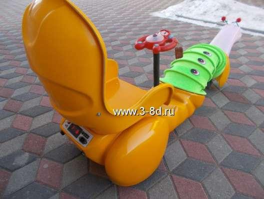Аттракцион, детский электромобиль Гусеничка в Москве Фото 1