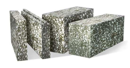 Теплые строительные блоки 4350 рублей за кб
