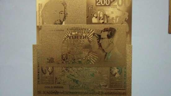 Коллекция золотых банкнот 24 к 20 штук + сертификат в Артемовский Фото 1