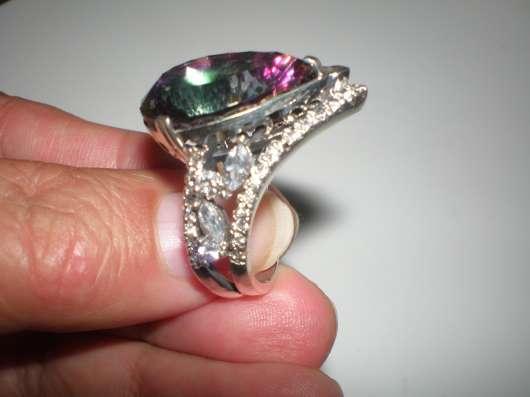 Авторское серебряное кольцо с мистик топазом17 размера. в г. Харьков Фото 3