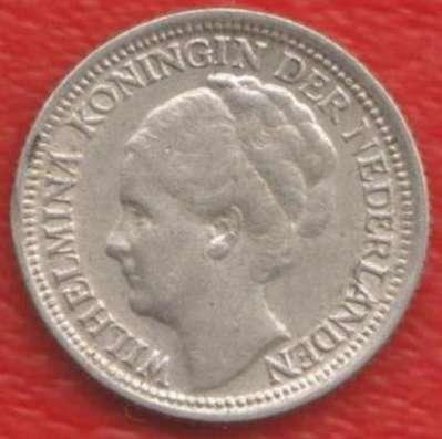 Нидерланды Голландия 10 центов 1937 г. Серебро