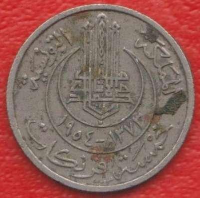 Тунис Французский 5 франков 1954 г.