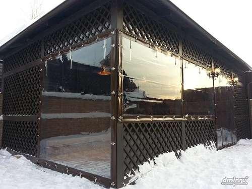 Мягкие окна ПВХ для беседок, веранд, кафе в Краснодаре