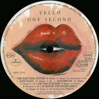 Yello ‎– One Second