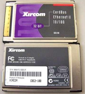 Xircom 32-BIT cardbus ethernet II 10/100