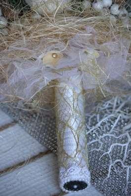 """Свадебный зимний букет ручной работы """"Сердце Зимы"""""""