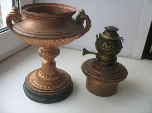 Лампа старинная.Керосиновая.МатадорМеталл.Камень