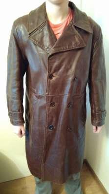 Офицерское кожаное пальто в Москве Фото 1