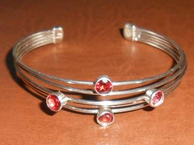 Винтажный серебренный браслет с камнями в Иванове Фото 2